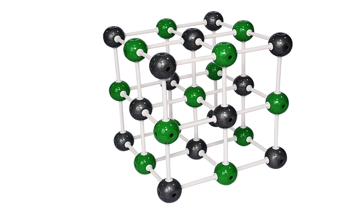 32007 sodium chloride crystal structure model